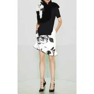 NWT Prabal Gurung Satin Asymmetrical Tulip Skirt